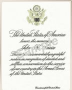 Cremation Options Presidential Memorial Certificates